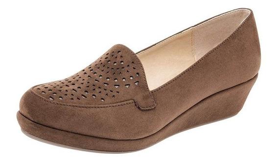 Zapato Casual Dama Etnia 1019 Camel Tacon 4 Cm 22-26 T5