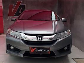 Honda City Ext Cambio Cvt T Machas 2015 Cinza Flex