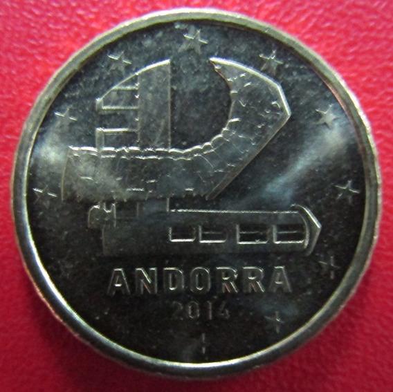 Andorra Moneda 10 Centavos De Euro 2014 Unc Km 523