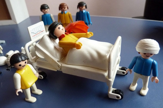 Set Playmobil Estrela Hospital Boneco Brinquedo Anos 80 Veja