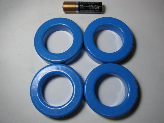 Nucleo Ferrite Toroide Lote De 4 Peças Fonte Chaveada Azul