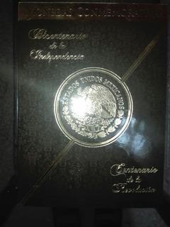 Colección De Monedas $5 Independencia Y Revolucion Con Álbum