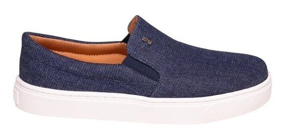 Tênis Slip On Jeans Azul