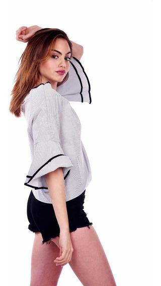 Customs Ba Camisa Mujer Importada Entallada Camisas Remera N