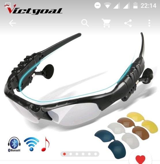 Óculos De Ciclismo C/5 Lentes, Bluetooth, Telefone E Mp3