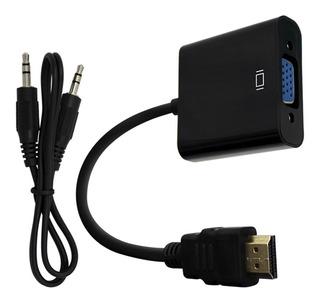Cable Convertidor Adaptador Hdmi A Vga + Audio Conversor