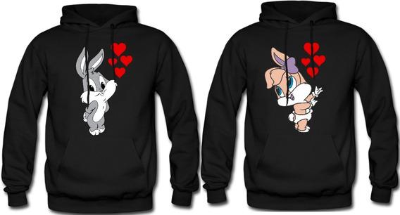 Sudadera Parejas Novios Lola Bunny & Bugs Bunny