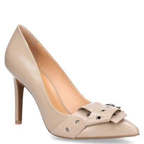 Zapato Vestir Mingo Mujer Beige - T925