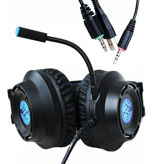 Fone Headset Gamer Haiz 5.1 Pc P2 Usb Led Microfone Hz9800
