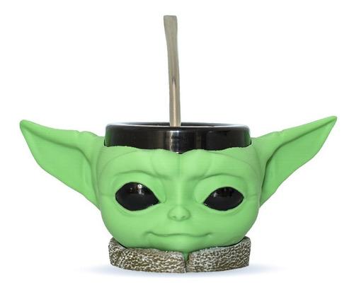 Imagen 1 de 9 de Mate Impreso En 3d Baby Yoda Star Wars Excelente Calidad