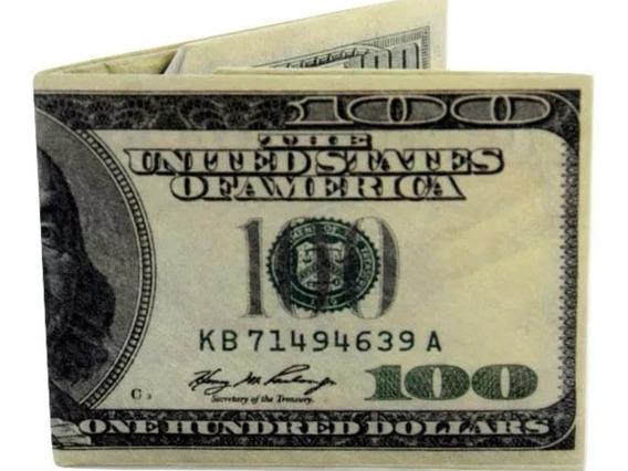 Billetera Cartera Modelo 100 Dolares,
