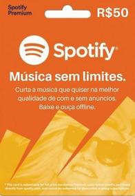 Cartão Spotify R$ 50 Reais - Assinatura Individual -imediato