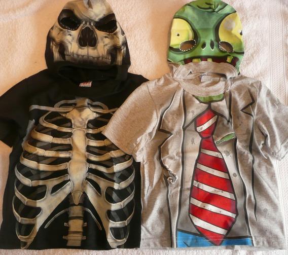 Remera Disfraz Niño Nene Zombie Esqueleto Hulk Halloween Mascara Y Tb Ropa Importada Gap