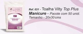 Toalha Manicure Descartável Top Plus - 50 Unidades