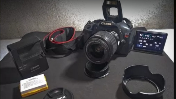 Canon Fotográfica Fullhd T3i + Lente 18-55mm