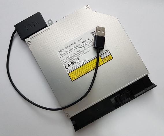 Drive Dvd Externo Usb + Adaptador Usb 2,0 Mini Sata