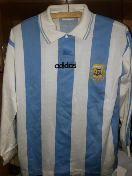 Argentina Camiseta De Niño Talle 04 De Los 90 Impecable!!