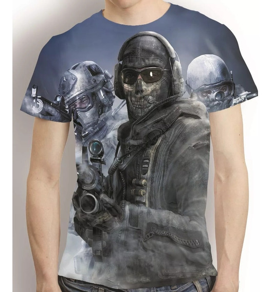 Camisa Game Camiseta Call Of Duty Ghost - Estampa Total
