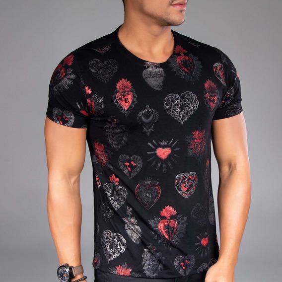 Camiseta Masculina Pit Bull Jeans Gola O 34231