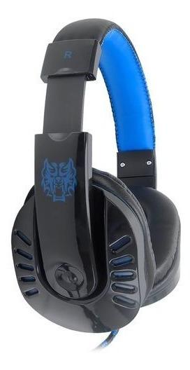 Fone Gamer Hf-g310-p4 Exbom Preto Com Azul
