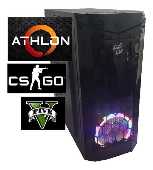 Pc Athlon 200ge Cpu Gamer Amd 8gb Ssd 240gb Vga Vega 2gb C/led