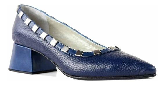 Zapato Mujer Briganti Cuero Vestir Taco Confort - Mccz33034