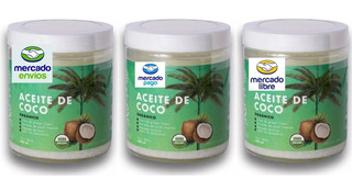 Aceite De Coco Orgánico 1,5lt 3 Frascos De 500 Ml