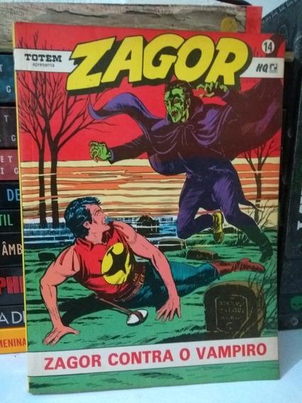 Zagor Nº14 Zagor Contra O Vampiro (frete Grátis) Record