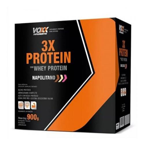 Whey Protein 3x Voxx Sabor Napolitano 900g