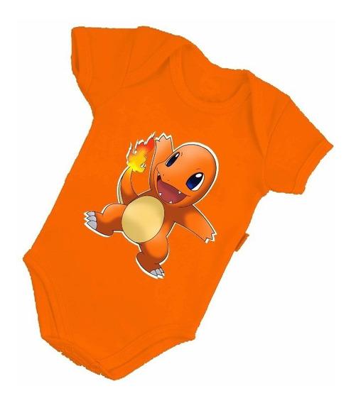 Body Bebê Charmander Desenho Pokémon Bore Bonito B021lj