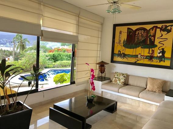Villa En Condominio, Marina Brisas Acapulco, 4 Rec, Jardin, Alberca E Techado