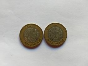 Lote 2 Monedas Grafila Invertida De 10 Pesos 2007