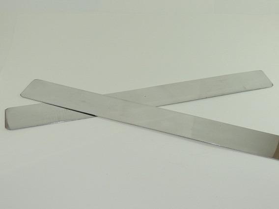 Regua Para Confeitar Bolo Aço Inox - 2 Unidades (alisa Bolo)