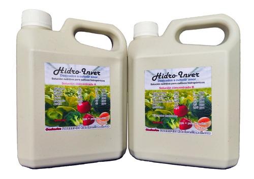 Solución Nutritiva Para Cultivos Hidroponia Para 1000 Litros