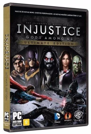 Injustice Ultimate Edition Midia Fisica Original Lacrado Pc