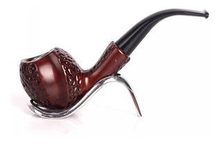 Pipa De Madera Con Acabado Acrilico Vintage Tabaco / 020016