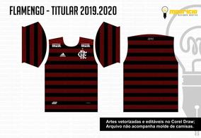 Vetor Camisa Flamengo 2019 - Titular, Reserva E Goleiro
