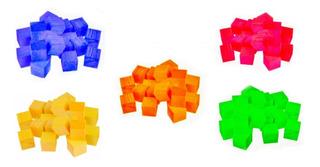 25 Cubitos De Madera De 5 Colores Juego Didáctico