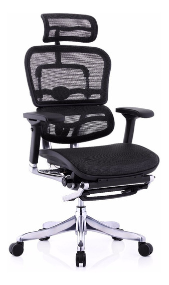 Cadeira Ergonômica Ergoman V2 Elite Luxo Com Descanso/perna