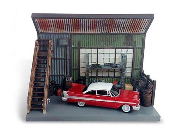 Auto World Christine 1958 Plymouth Fury Com Cenário 1:64