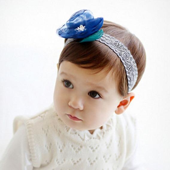 Bonitinho Bonito Flor Ribbon Renda Hairband Bebê Bebê Menina