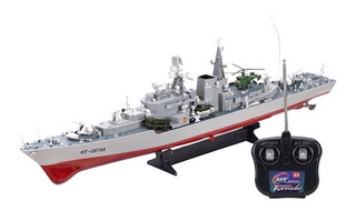 Grande Radio Control Remoto Alemania Bismarck Ba...