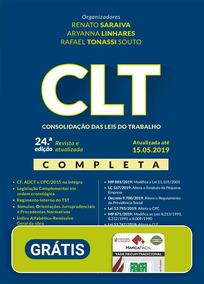 Clt - Consolidacão Das Leis Trabalho - 24ª Edição 2019