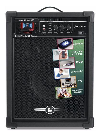Caixa De Som Bluetooth Amplificada Multiuso Frahm Ca 150 50w