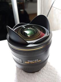 Lente Fisheye Sigma 10mm F/2.8 Ex Dc Hsm Canon C/ Auto Foco