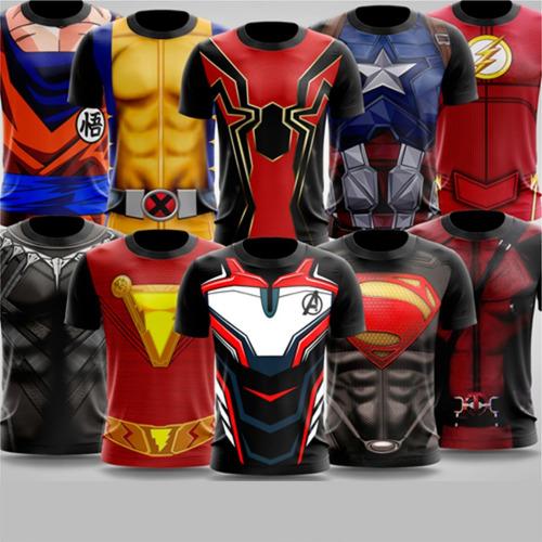 Estampas Camisetas Artes Para Sublimação De Super-heróis 25