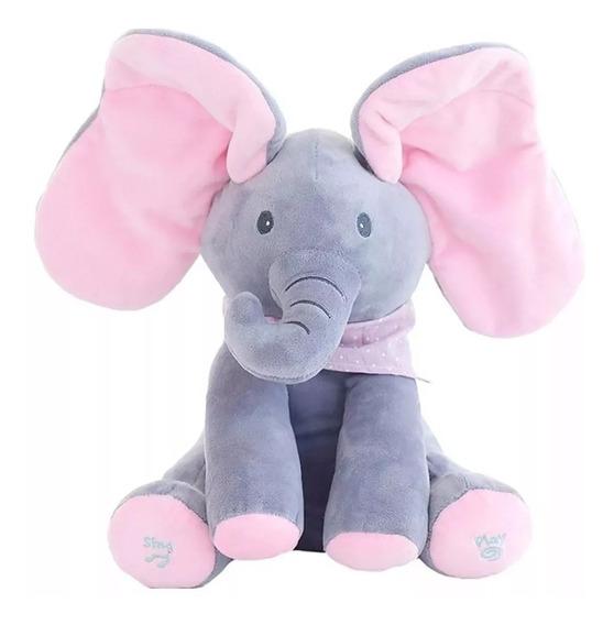Urso/elefante Brinca De Esconder O Rosto Com O Paninho Video