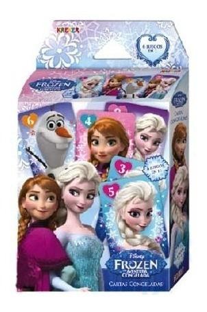 Imagen 1 de 3 de Juego De Mesa Frozen Cartas Congeladas 6 En 1 Kreker
