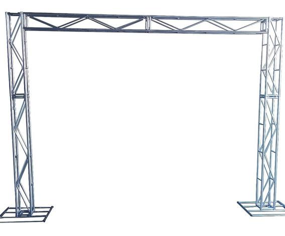 Treliças Kit Trave Box Truss Dj Q20 Aço 2,5/3m - Stfer