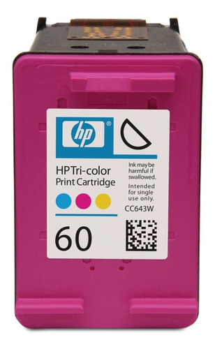 Cartucho 100% Original Hp 60 Tricolor Verificables En Pagina